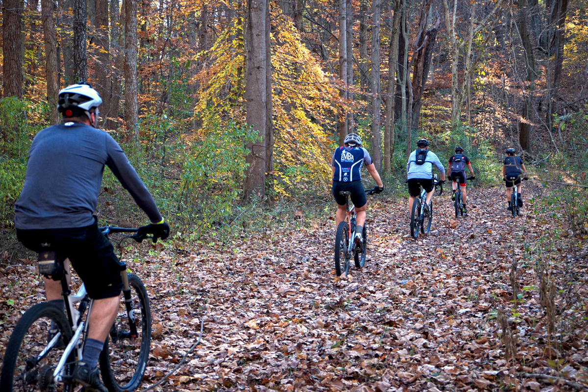 Mountain Bikers at Harmonie State Park