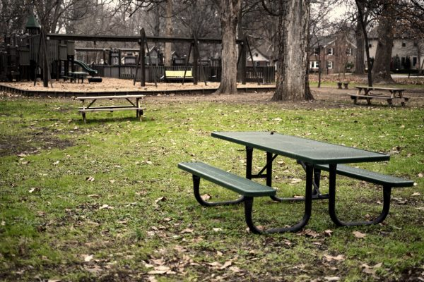 Picnic Tables in Campground
