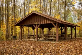 Harmonie State Park Picnic Shelters