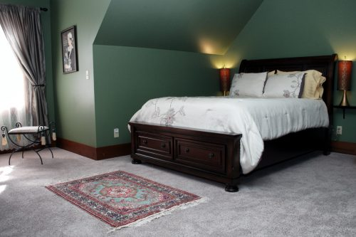Green Bedroom at Cook's on Brewery Bed and Breakfast