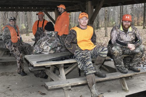 Hunters relaxing at Harmonie State park