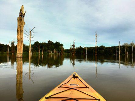 Kayaking on Hovey Lake