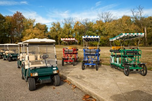 Golf Cars at the Atheneum