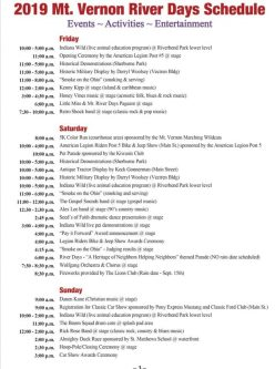 River Days 2019 Posey County Indiana