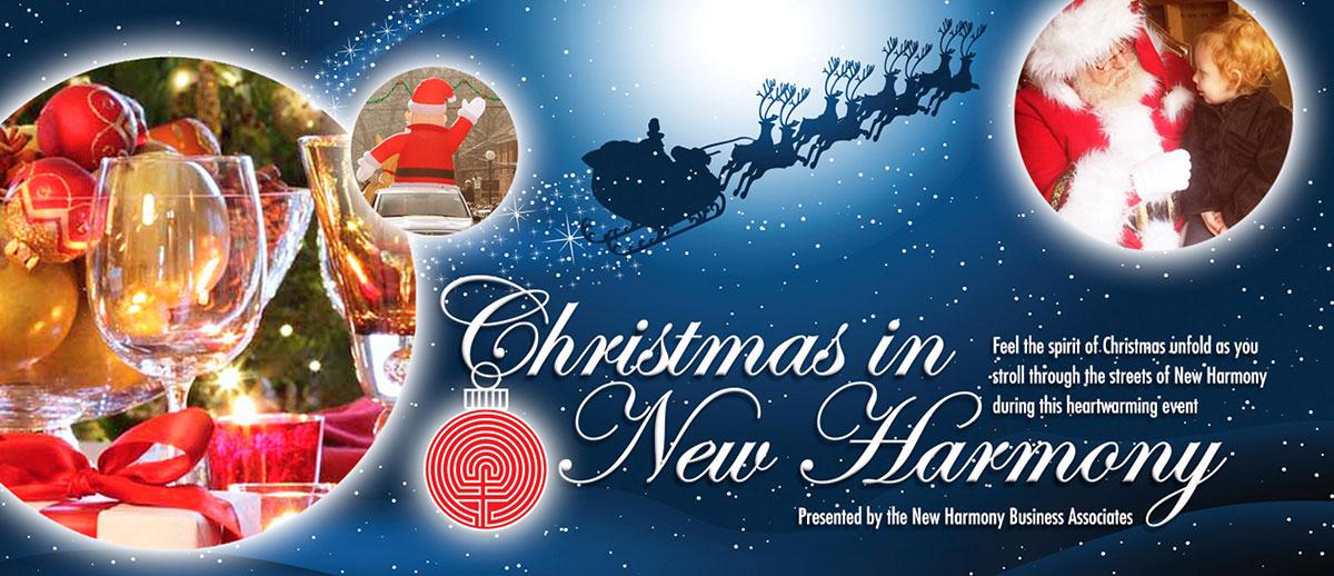 christmas in new harmony, posey county, indiana