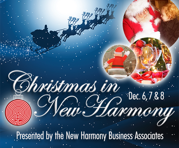 christmas in new harmony, posey county, indiana
