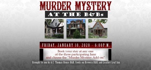 murder myster at the B&B's New Harmony Indiana