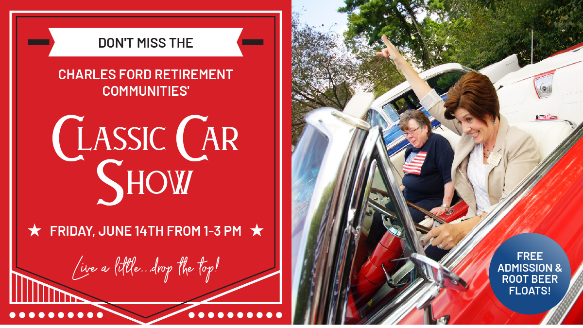 charles ford retirement communities, new harmony, classic car show